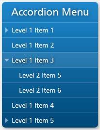 Модуль раскрывающегося меню Accordion menu